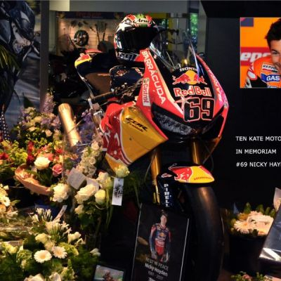<strong>IN MEMORIAM MOTO GP WORLD CHAMPION 2006 - #69 NICKY HAYDEN (Owensboro JULY 30, 1981 - Cesena MAY 22, 2017) at TEN KATE MOTOREN, NIEUWLEUSEN, the NETHERLANDS. Photo: MAY, 27th.</strong>
